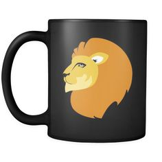 [product_style]-Lion Animal Illustration 11oz Black Mug-Teelime