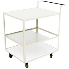 Very Rare Bar Cart by Hans Koenecke, Germany 1950s, TECTA | From a unique collection of antique and modern bar carts at http://www.1stdibs.com/furniture/tables/bar-carts/