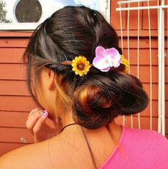 medium length hair braided hairstyle