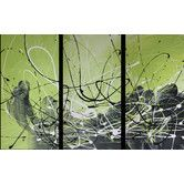 Found it at Wayfair Australia - 3 Piece Abstract Canvas Painting in Lime Green and Black