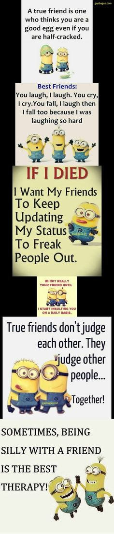 Top 5 Funniest Memes About Friend By The \Minions