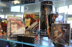 A Perfect Dark themed display in the Rare canteen, including Jo Dark figurine Rare Restaurant, Perfect Dark, Big Huge, Game Guide, Canteen, 2000s, Zero, Display, Painting