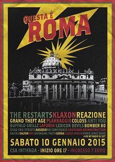 #In primo piano, Punk news:  QUESTA E' ROMA: il punk festival della Capitale http://www.punkadeka.it/questa-e-roma-il-punk-festival-della-capitale/ Sabato 10 gennaio si terrà al C.S. Intifada di Roma il Questa è Roma Festival, serata a tinte punk-rock/hardcore che riunirà sui due palchi del centro sociale importanti e storiche realtà della scena underground capitolina e non solo: Klaxon, Reazione, Grand Theft Age, Dead End Street e tanti alt...