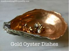 gold oyster dish, crafts, home decor - Hometalk! - quick gift gold oyster dish, crafts, home decor - Hometalk! - PLEASE READ Custom Order 6 or more Gold Leaf Oyster Shell Ring Seashell Art, Seashell Crafts, Beach Crafts, Fun Crafts, Arts And Crafts, Seashell Projects, Seashell Ornaments, Driftwood Projects, Quick Crafts
