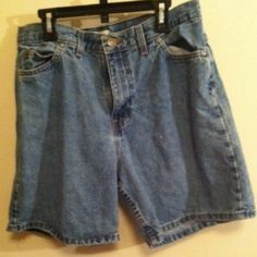 High rise denim shorts Good condition zipper button works fine ! Size 12  feel free to make a offer or ask to bundle with discounts thank you !!   No trades Faded Glory Jeans