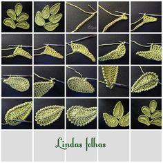 mais um pap de folha em crochê para aplicação, decoração e o que mais vier a mente =)