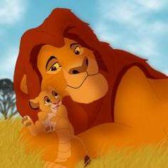 Tata leu cu puiul
