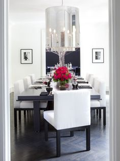 Photo Gallery: Holiday Tables | House & Home.. bright & glamorous dining room