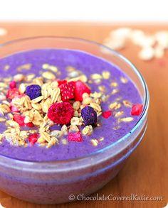 Copycat Juice Generation Acai Smoothie Bowls: http://chocolatecoveredkatie.com/2014/05/28/smoothie-bowls/