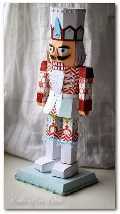 Nutcracker and mouse king holiday toys printable paper craft pdf im so excited to share this new holiday creation that i made isnt he just the cutest im up on the i maginisce blog today sharing solutioingenieria Image collections