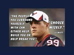 "Football Motivation JJ Watt Texans Photo Quote Poster Wall Art Print 5x7""…"