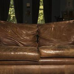 Leather Chair Cushions Rustic Dining Table And Chairs Fix Flattened Down Sofa Diy On How To Clean Restore Furniture