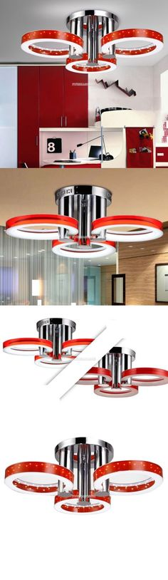 Chandeliers And Ceiling Fixtures 117503 30 Contemporary Led Light Chandelier Flush Mount Pendant Lamp