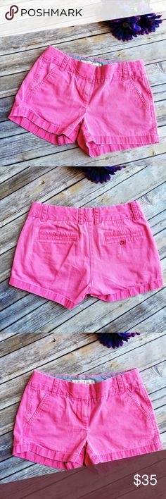 "J. Crew ""Broken In"" Pretty Pink Shorts  ★ Excellent condition!  ★ These super cute broken in J. Crew pink shorts are adorable and a must-have for summer and festival season!  ★ 100% Cotton. ★ NO TRADES!   ★ NO MODELING!  ★ YES REASONABLE OFFERS! ✅ ★ Measurements available by request and as soon as possible.  J. Crew Shorts"