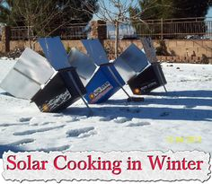 Solar Cooking in Winter