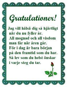 gratulationer födelsedag text