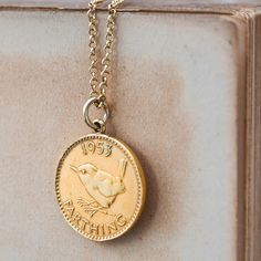 wren gold lucky coin necklace by cabbage white england | notonthehighstreet.com