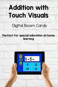 addition using touch points can be practiced using this set of boom cards. Boom cards are digital task cards that students can use on any device. Touch math using Boom cards is the way to go! Touch Math, Home Learning, Addition And Subtraction, Math Games, Task Cards, Special Education, Teacher Pay Teachers, Students, Classroom