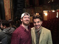 """What a pleasure meeting you last night! Now I'm gonna do Whataya Want from Me in ASL. @adamlambert @SpringBway"""