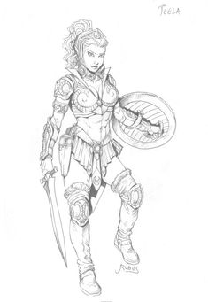 A new version of Teela, He-Man's most loyal gal-pal. Description from deviantart.com. I searched for this on bing.com/images