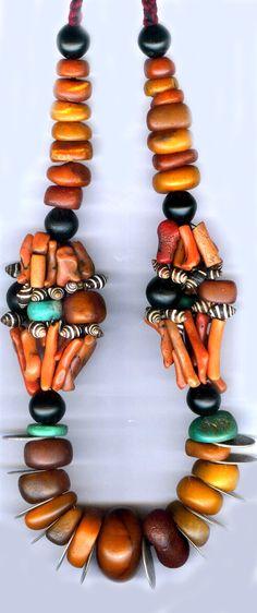 Moroccan berber from Morocco Tribal Necklace, Tribal Jewelry, Boho Jewelry, Antique Jewelry, Beaded Jewelry, Handmade Jewelry, Beaded Necklace, Coral Jewelry, Amber Jewelry