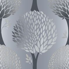 Tempo Tree Charcoal wallpaper by Galerie