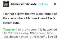 Shadowhunters Tv Show, Malec, I Can Not, Believe, Tv Shows, Scene, Shit Happens, Day, Shadowhunters Tv Series