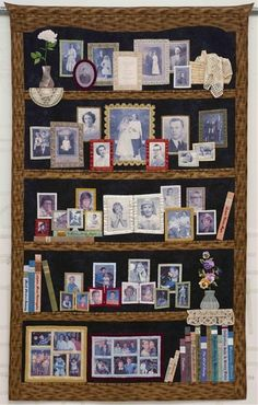 I love this quilt! I've seen a variety of memory quilts but this is my favorite.  I wish my parents were around so I could make a similar one for them.
