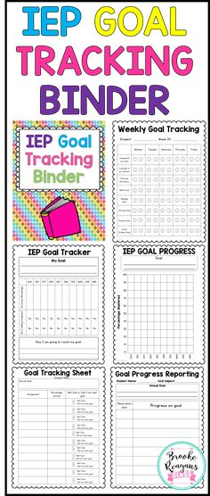 IEP goal tracking can be hard work. Make it easier on yourself with my IEP goal tracking binder! All the forms you need in one place to progress monitoring student IEP goals!