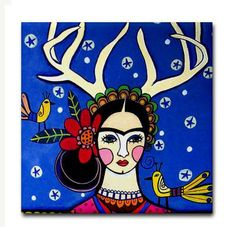 Frida Kahlo Tile - Mexican Folk Art Ceramic Coaster - Talavera Tiles -  Art Gift