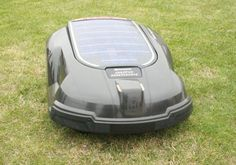 Solar Powered Lawn Mower - This would make it SO much easier to get the lawn done when it's just me and beano at home!