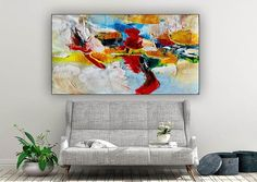 Large Office Wall Art Modern Abstract Art Abstract Painting image 4 Modern Wall Art, Large Wall Art, Large Canvas, Contemporary Art, Abstract Canvas Art, Canvas Wall Art, Office Wall Art, Office Decor, Artwork