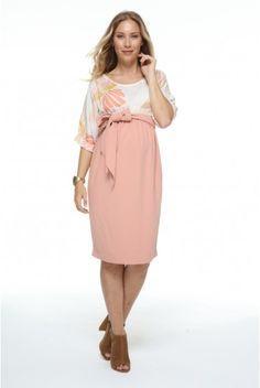 c6145cffdce1 Robe de grossesse bi matière avec imprimés - Robes de grossesse élégantes