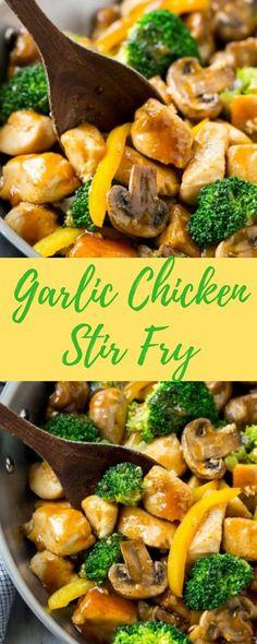 Garlic Chicken Stir Fry - Healthy Food Ideas