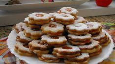 Luxusní linecké cukroví s broskvovou marmeládou!