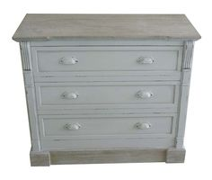 WHITE SHABBY CHIC VINTAGE FRENCH STYLE CHEST OF 3 DRAWERS BEDROOM FURNITURE | eBay