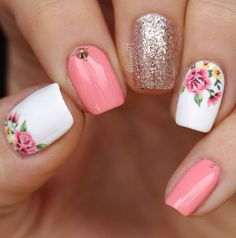 43 best spring nail art designs to copy in 2019 - . - 43 Best Spring Nail Art Designs to Copy in 2019 – the - Spring Nail Art, Spring Nails, Summer Nails, Spring Art, Cute Nails, Pretty Nails, My Nails, Gorgeous Nails, Diy Ongles