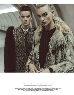 winter is coming: stephanie rad and zoe colivas by davian lain for l'officiel singapore september 2016
