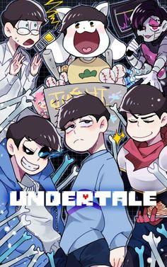Osomatsu-san crossover Undertale- Osomatsu, Karamatsu, Choromatsu, Ichimatsu, Jyushimatsu, and Todomatsu #Anime「♡」