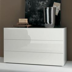 """Lux 3-Drawer Chest from Bontempi Casa - Overall: 47"""" W X 21"""" D X 28"""" H - $1747"""