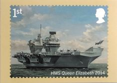 Issue no Issued 19 September Royal navy ships. Uk Stamps, Postage Stamps, Hms Queen Elizabeth, Navy Ships, Royal Navy, Stamp Collecting, Present Day, Post Office, Boats