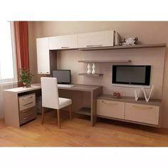 Home Garden Design, Home Room Design, Home Office Design, House Design, Modern Home Offices, Desk In Living Room, Hall Furniture, Small Apartment Design, Home Office Setup
