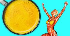 viraI: What Can Happen to Your Body If You Drink Turmeric Milk Before Bedtime Sante Plus, Shoulder Tension, Turmeric Milk, Cleanse Your Body, Golden Milk, Cardiovascular Disease, Boost Your Metabolism, Flat Belly, Anti Aging