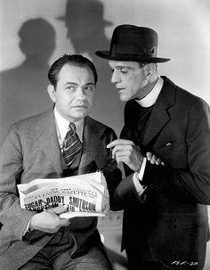 Edward G. Robinson and Boris Karloff