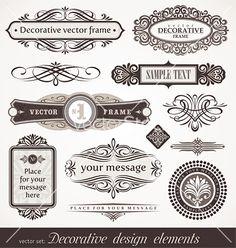 Design elements  page decor vector 533930 - by sergo on VectorStock®