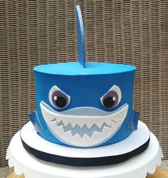 Shark cake Shark Cake, Birthday Ideas, Cake Decorating, Cakes, Food Cakes, Pastries, Torte, Cookies, Cake