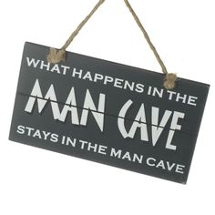 Hanging Wooden Man Cave Sign Wooden Man, Man Cave Signs, Fathers Day, Father's Day