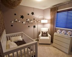 32 Brilliant Decorating Ideas For Small Baby Nursery Room : Baby Room Design Idea With White Recliner Chair Also Drum Wall Light Along With White Baby Crib And White Drawers Along With Light Gray Wall Paint Color Baby Bedroom, Baby Boy Rooms, Baby Room Decor, Baby Boy Nurseries, Room Baby, Baby Room Sheep, Unisex Baby Room, Newborn Room, Bedroom Boys