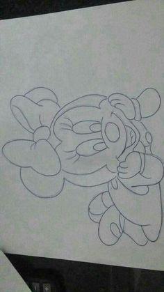 Pencil Art Drawings, Art Drawings Sketches, Disney Drawings, Baby Drawing, Drawing For Kids, Baby Disney, Disney Art, Miki Mouse, Princess Drawings