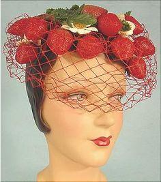 1940's Strawberry Hat